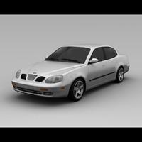3d daewoo leganza 2001 model
