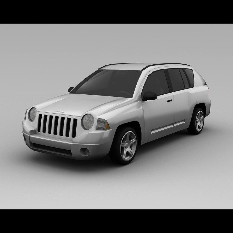 jeep compass 2008 3d model