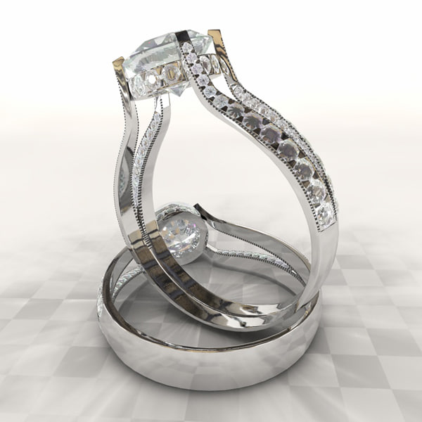 3d diamond ring