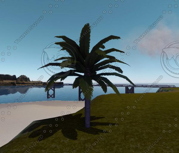 3d model tall date palmtree