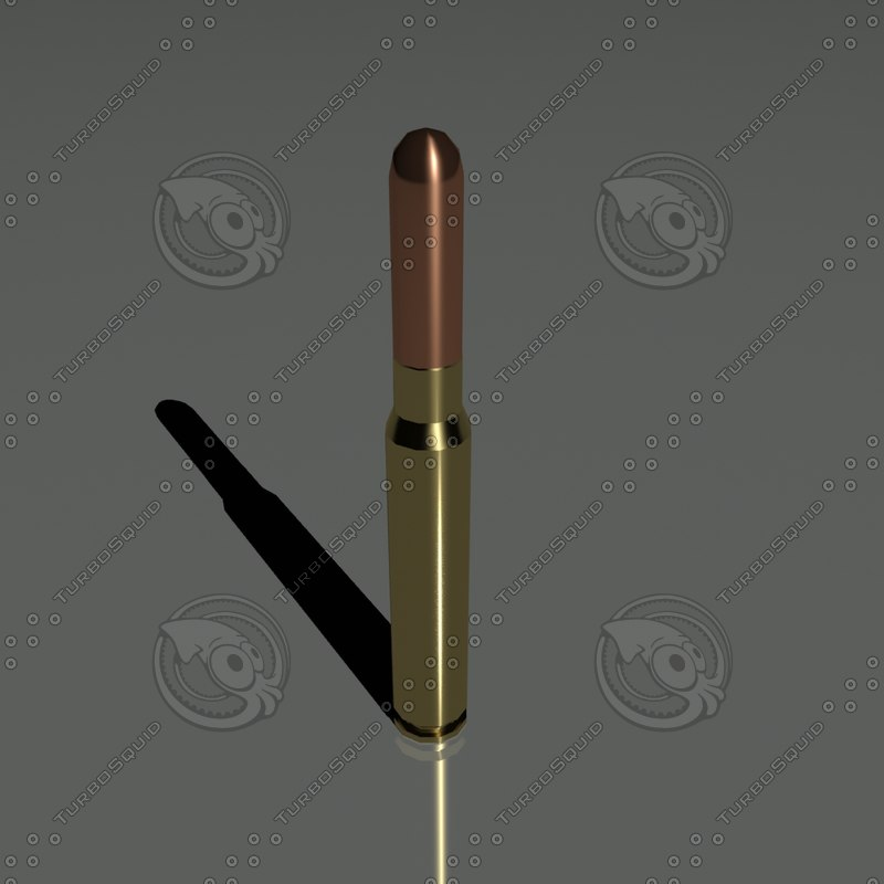 cartridges 7 92 mm 3d model