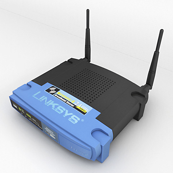 3d linksys broadband router model