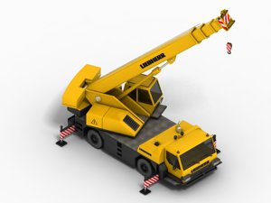 maya telescopic crane