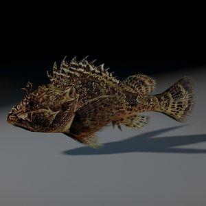 rockfish rigged 3d model