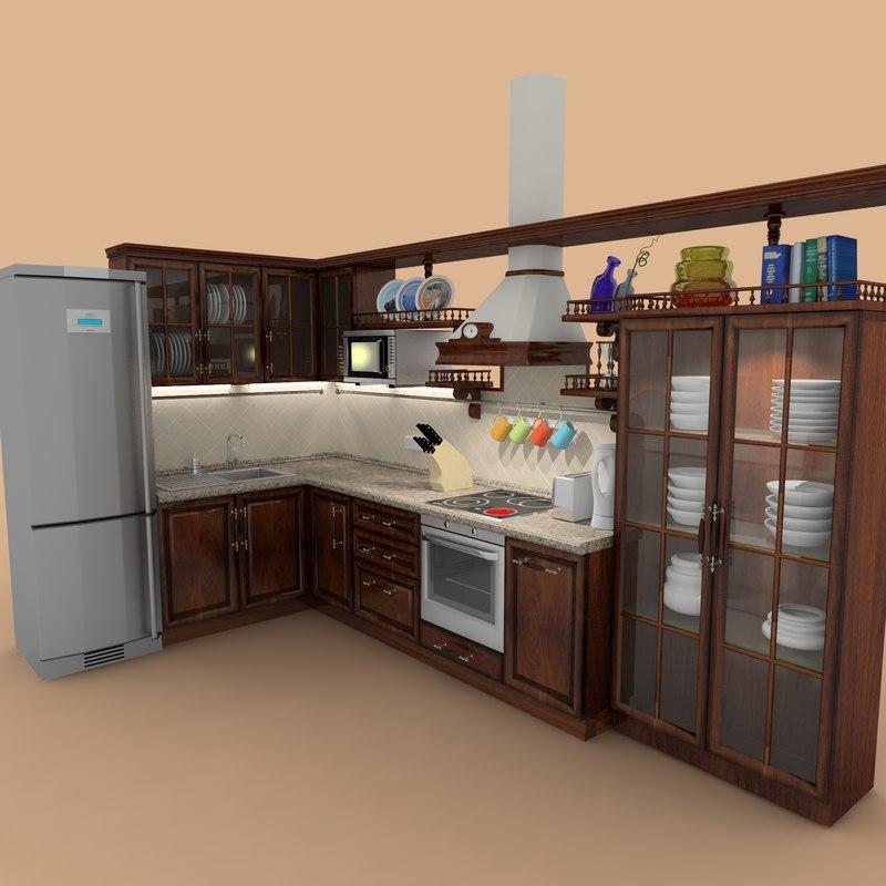 Classic Kitchen 3d Max