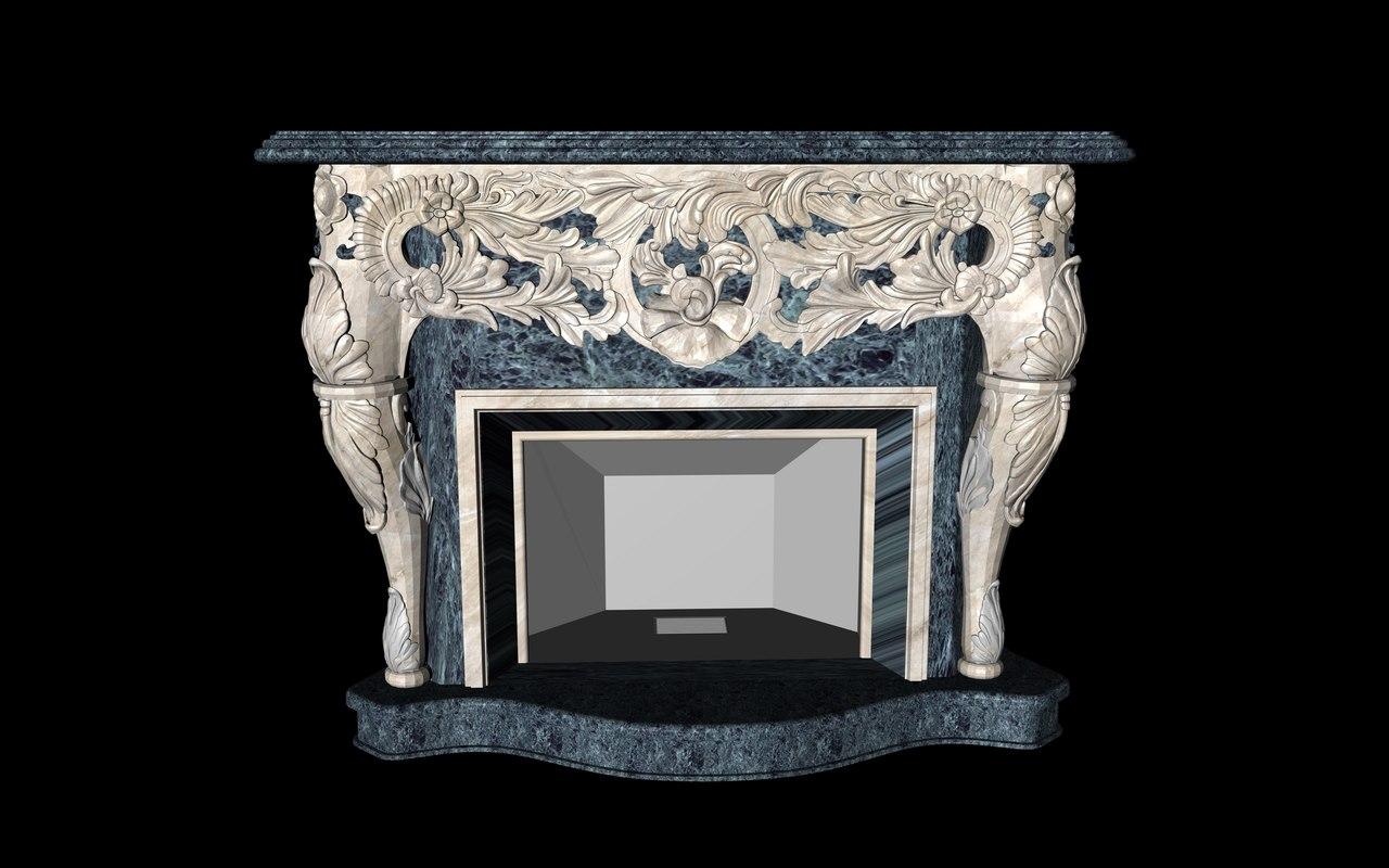 fireplace 3d c4d