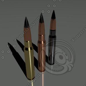 cartridges 7 92 mm 3d max