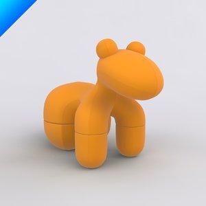 pony chair adelta 3d model