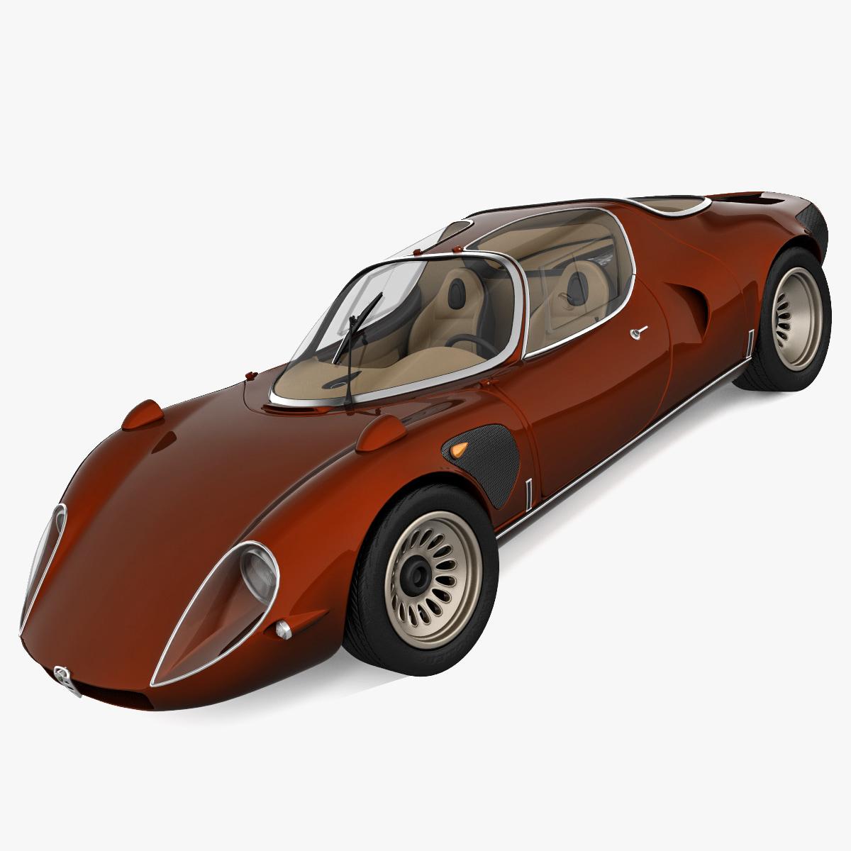 alfa romeo stradale 3d model