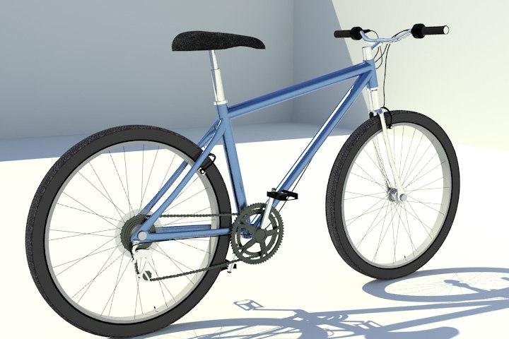 bicycle bike mountain 3d x