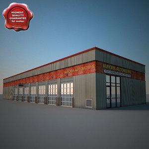 3dsmax car service building v2