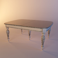 3d wooden dinner table dolfi