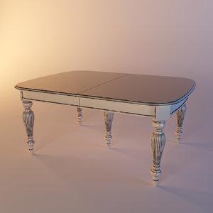 3d wooden dinner table dolfi