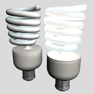 spiral bulb 3d max