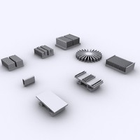 Collection of 8 Heat Sinks