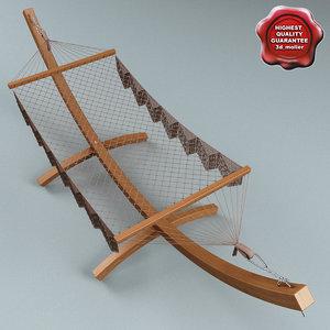 3d max hammock modelled