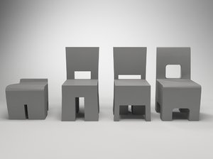 3d m perfect chair