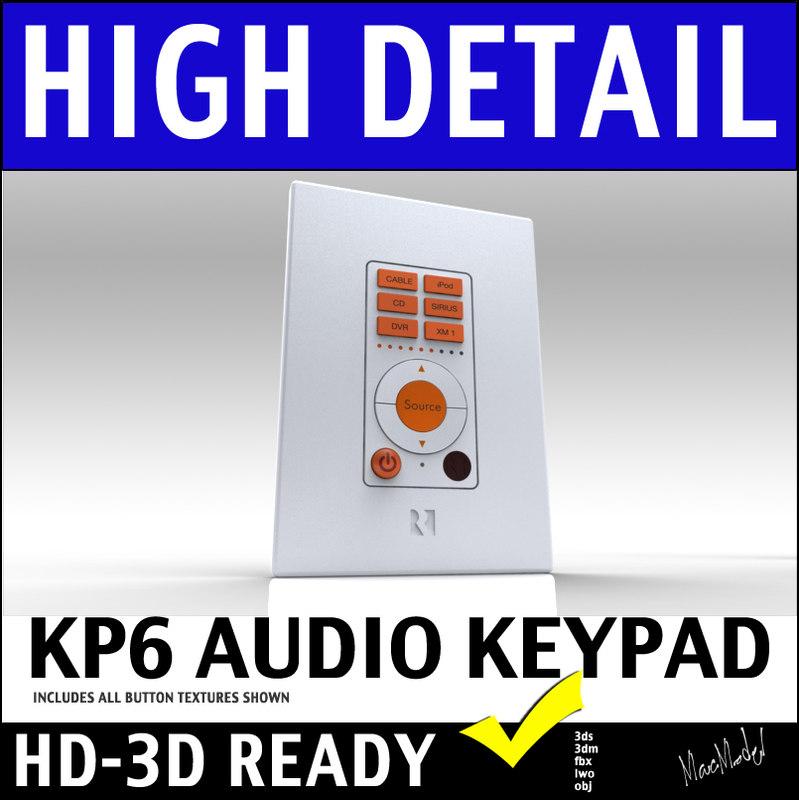 russound kp6 home wall mount 3d model