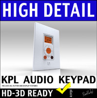 Russound KPL Advanced System Home Audio Keypad 3D Model
