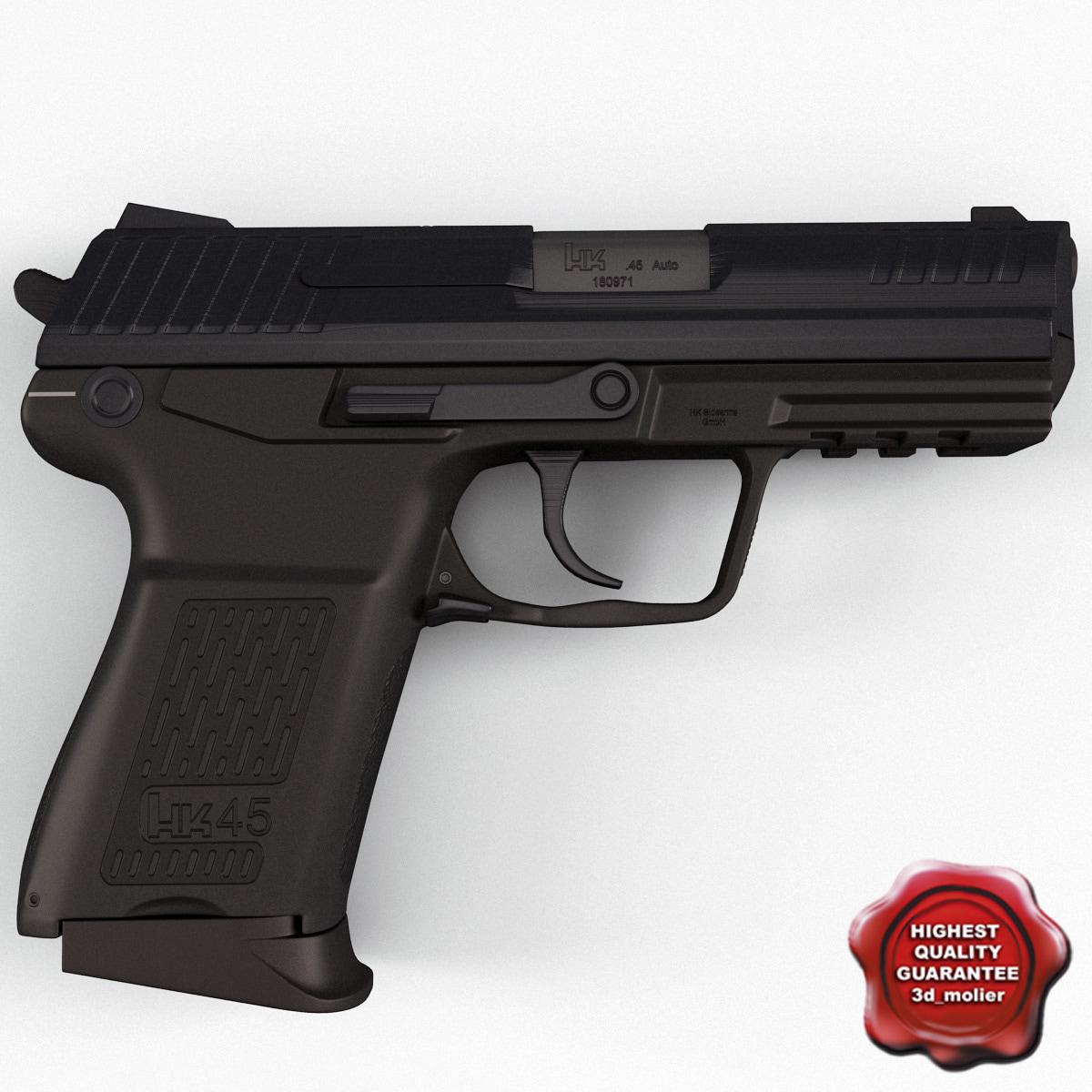 pistol heckler koch usp 3d model