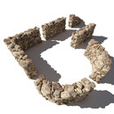 stone wall - 3d 3ds