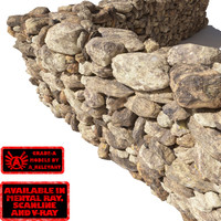 3d model stone wall -