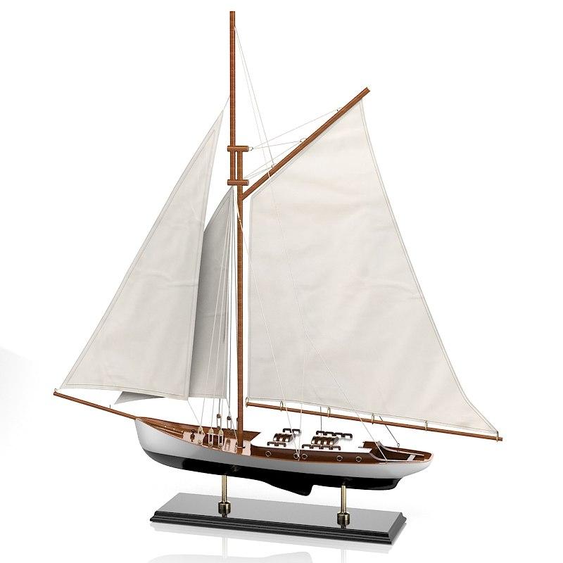 sailboat cantori 7438 3d model