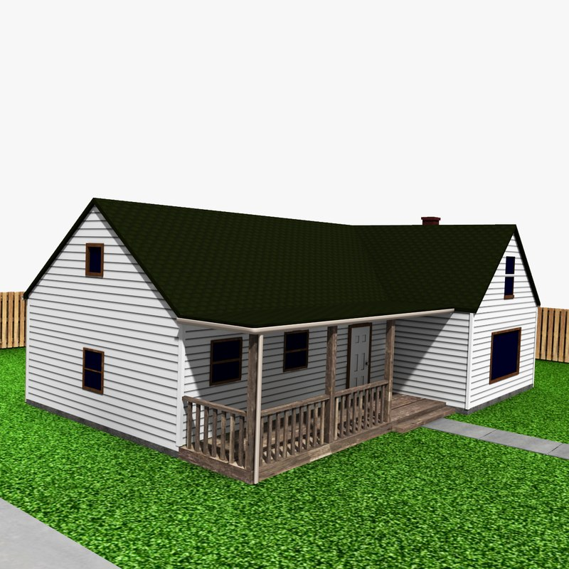 3d house garage model