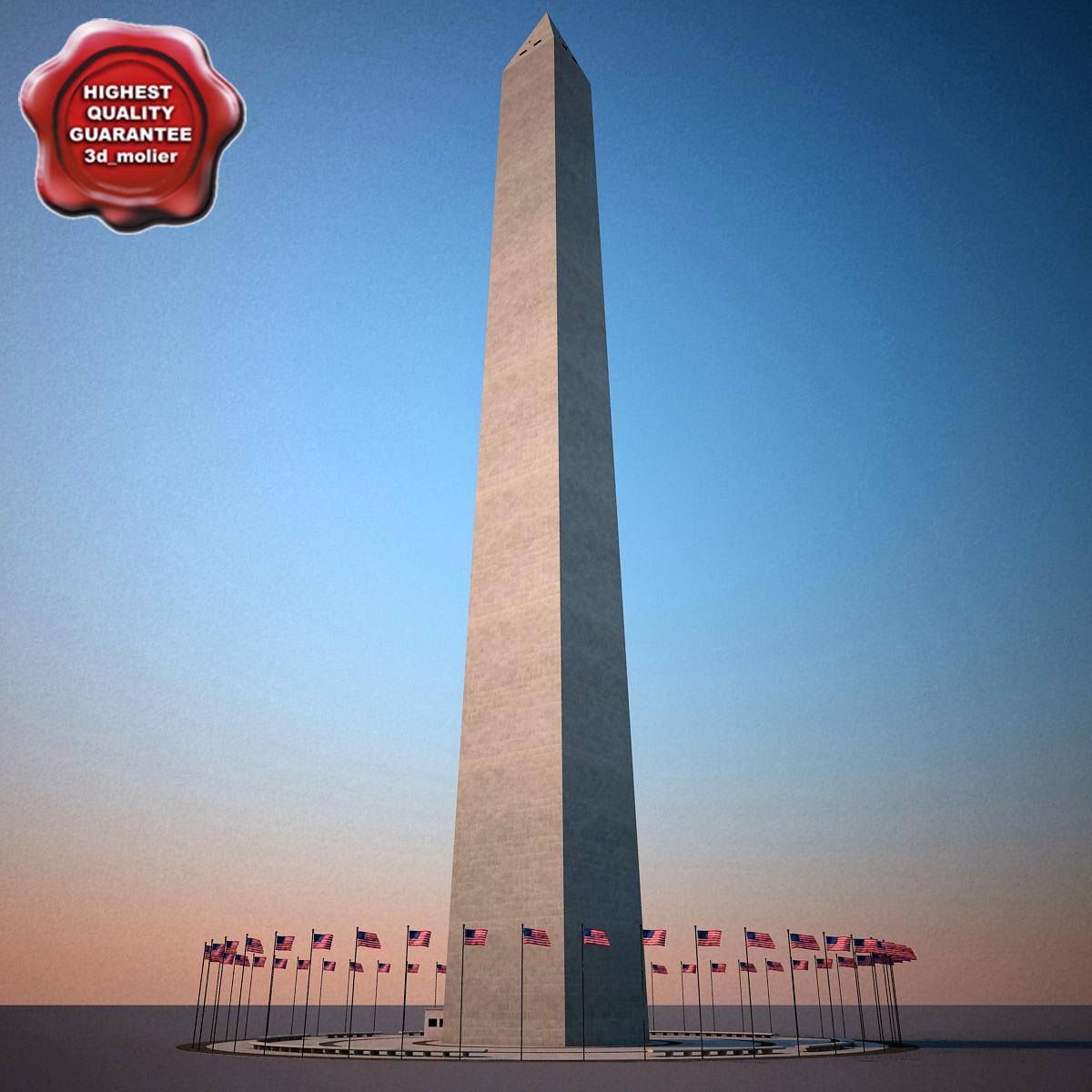 washington monument 3d max