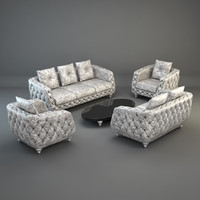 furniture set sofa armchair 3d max