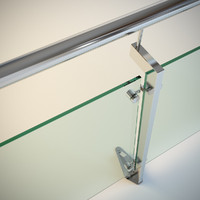 Steel railing with glass (type 2)