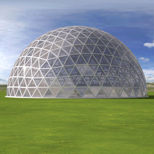 3d model geodesic dome 8th frequency