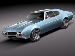 3d oldsmobile 442 cutlass 1968