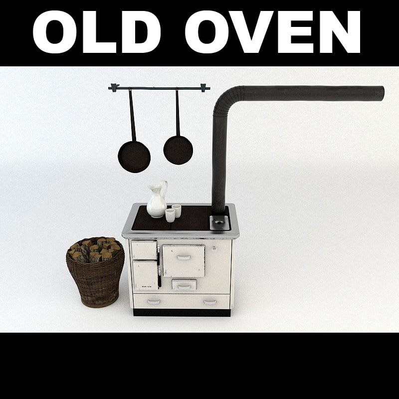 3d model old oven