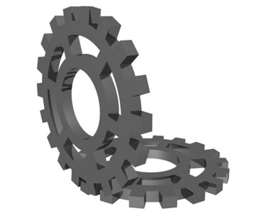 3d gears animation model