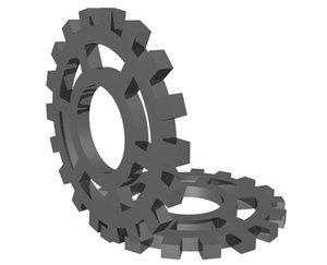 3d gears animation model