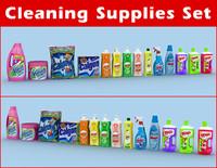 Cleaning supplies detergent set
