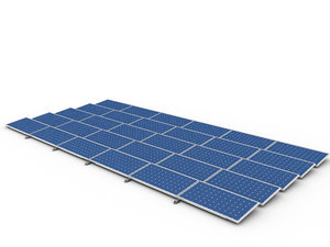 3d model solar cell