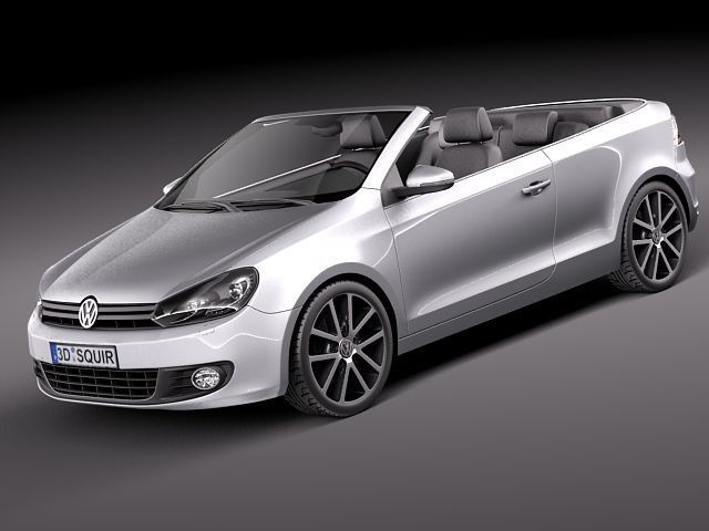 Volkswagen Golf Cabriolet 2012 3d Max