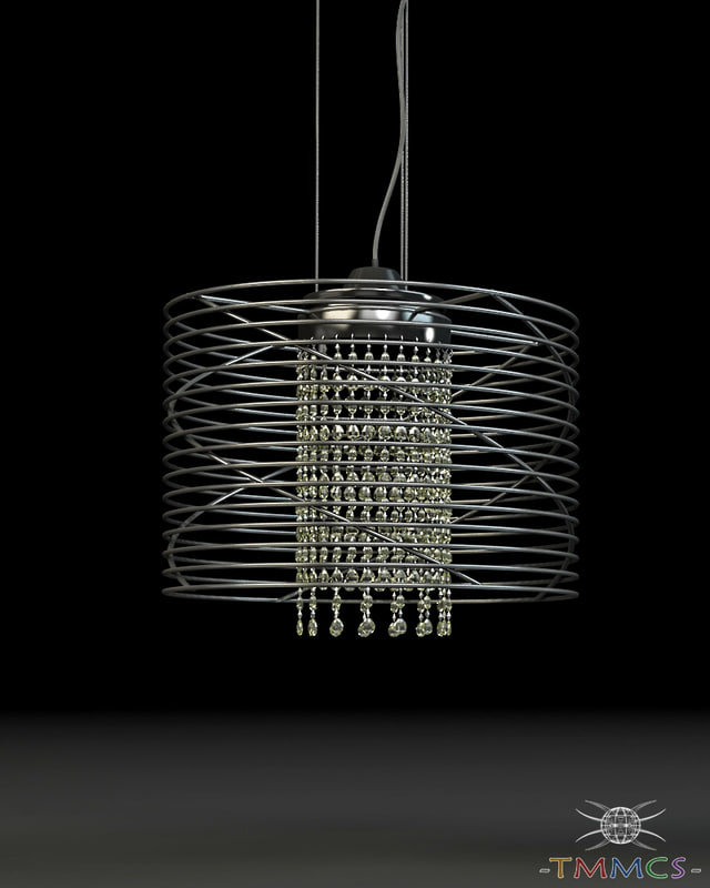 3d wire lamp - style model