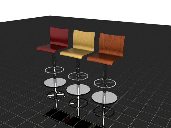 3ds modern kitchen stools