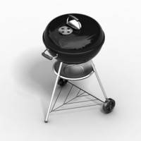 weber barbeque 3d model