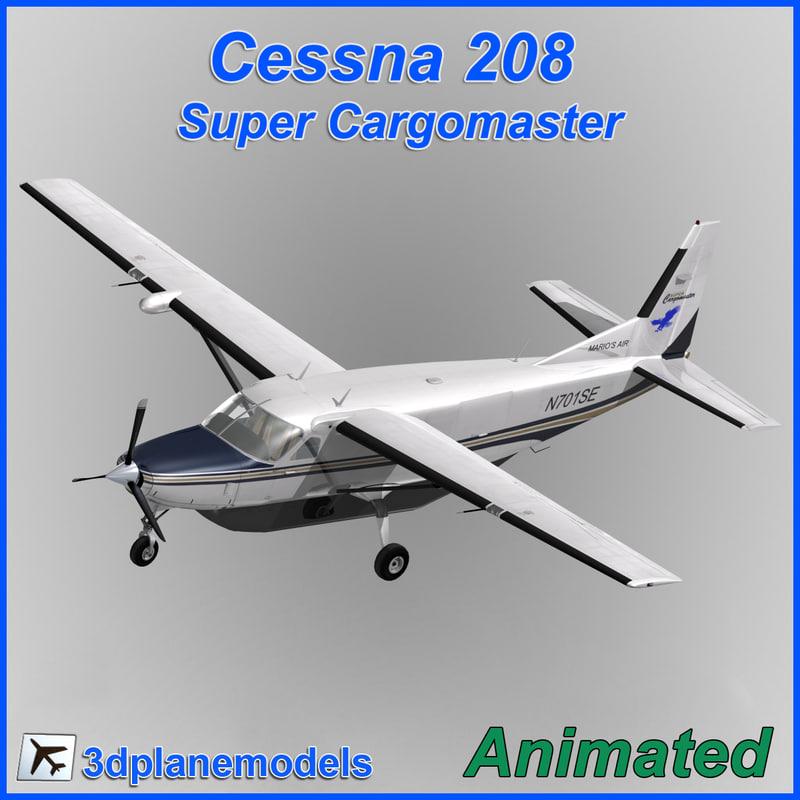 cessna 208 cargo super 3d max