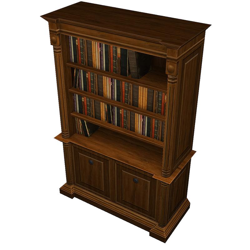 3dsmax bookshelf cabinet bookcase