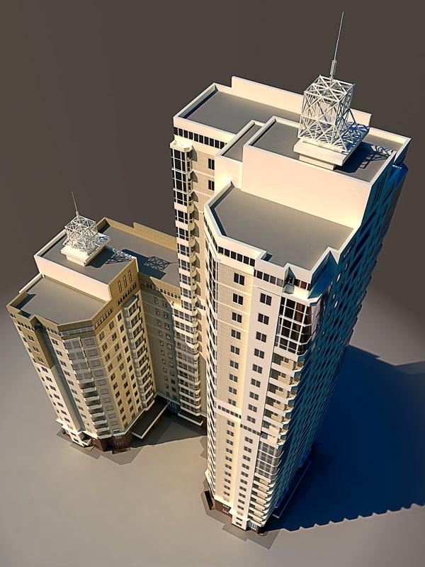 3d residential house model