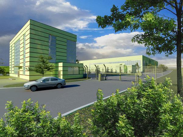 3d plant office building model