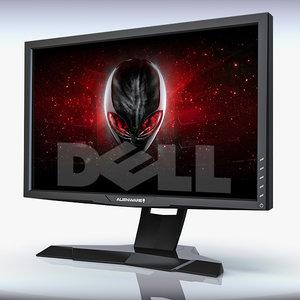 3d c4d monitor dell alienware optx