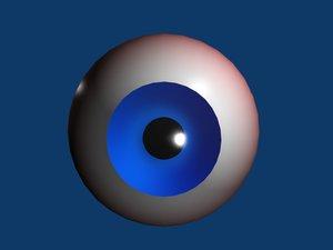 free eye animation anatomy 3d model