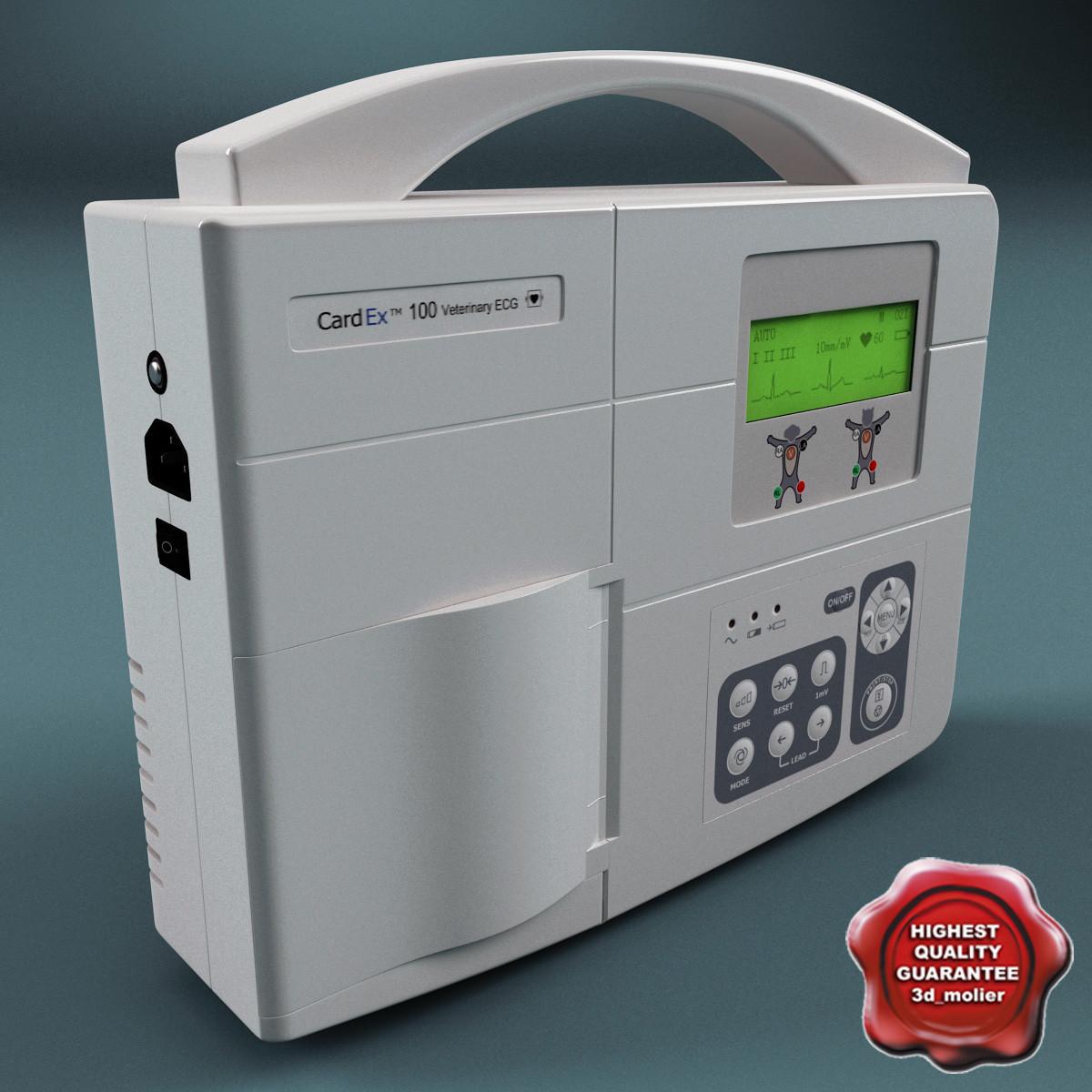 3d model electrocardiograph diagnostic monitor cardex