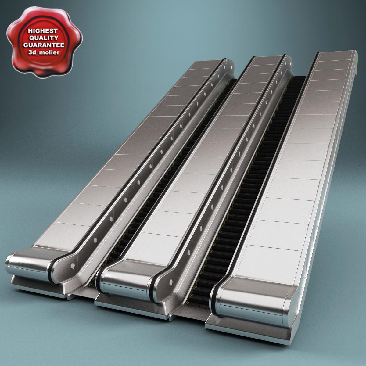 3d model escalator v2